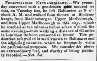 Pedestrianism Extraordinary 1843  -  Nat. Int.