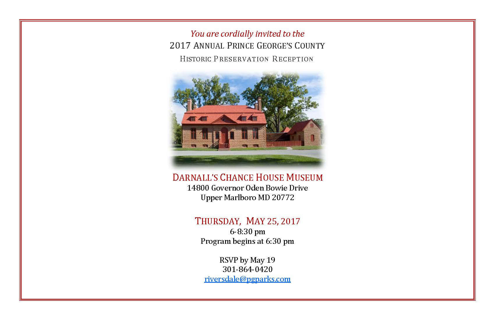 You Are Cordially Invited To The Wedding: Preservation Month Reception